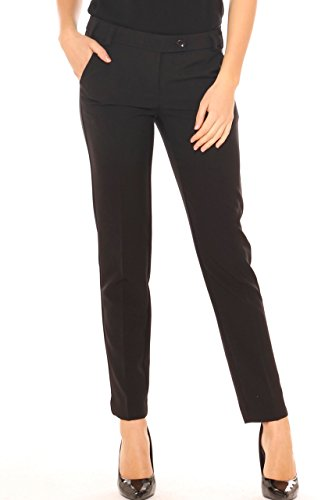 Pantalone chino donna in tessuto stretch Nero