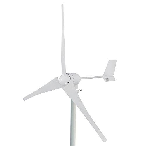 Husuper 700W Windgenerator Wind Generator 24v Wind Turbine Generator 700w mit 3 Rotorblättern für Zuhause Wohnwagen Camping Boot Telekommunikation Straßenbeleuchtung und Mehr
