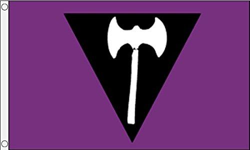 AZ FLAG Bandera del Orgullo LÉSBICO LABRYS 150x90cm - Bandera Lesbiana Feminista 90 x 150 cm