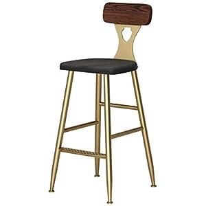STOOL Bar, Café, Restaurant Stuhl, Barhocker Pub Barhocker Frühstück Küche Counter Stuhl Mit Fußstütze Amp; Holzrücken Retro Industrial Style Sitzhöhe 65 / 75Cm,C,65Cm