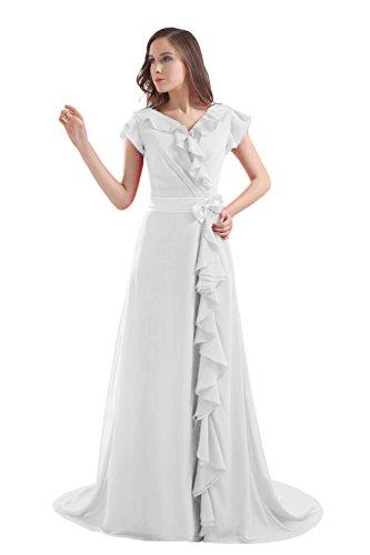 Bridal_Mall - Robe - Sans Manche - Femme Blanc - blanc