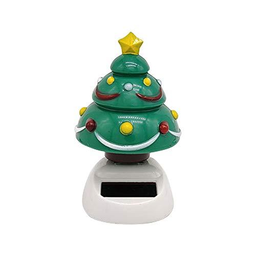 shyyymaoyi niedlicher Mini-Weihnachtsbaum, solarbetriebene Schaukel, Auto-Innendekoration, Dekoration für Zuhause, Büro, Geschenk