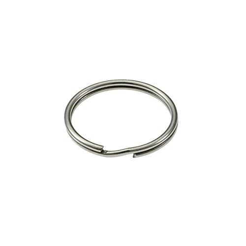 Bulk Hardware BH02294 38 mm Schlüsselring - Vernickelt (Packung à 10) Weiß Stück