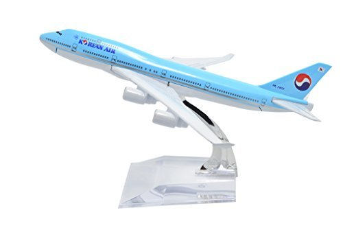 1400-16cm-boeing-b747-400-korean-air-metal-airplane-model-plane-toy-plane-model