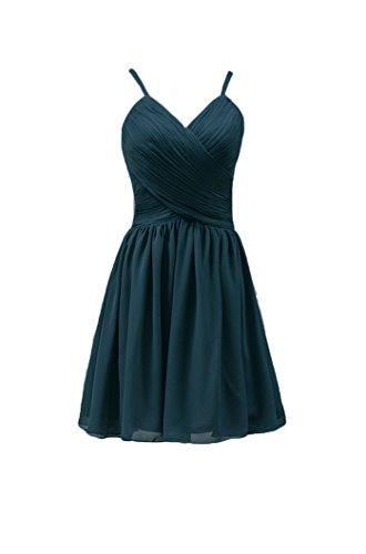 Bridal_Mall - Robe - Trapèze - Sans Manche - Femme Vert - Hunter