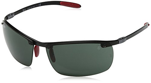 Ray-Ban Junior Herren 0RB8305M F00571 64 Sonnenbrille, Dark Carbon/DarkGreen
