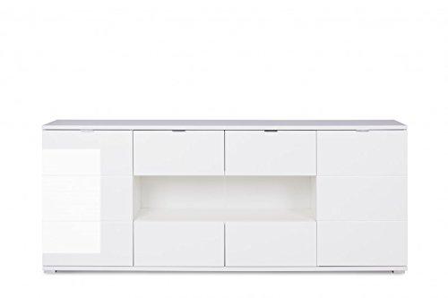 Sideboard 'Virgin 5' Kommode Anrichte Weiß Hochglanz 200x85x40 Modern