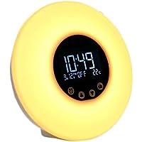 Xiuxiu Aufwachen Licht, Radiowecker Nachttisch Touch Control Sonnenaufgang Sonnenuntergang Simulator 6 Natürlicher... preisvergleich bei billige-tabletten.eu