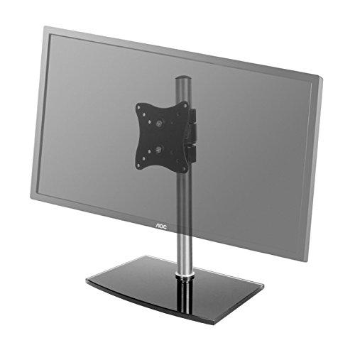 Edelstahlmarkenshop Monitorhalter Universal Glas Standfuß 12-24