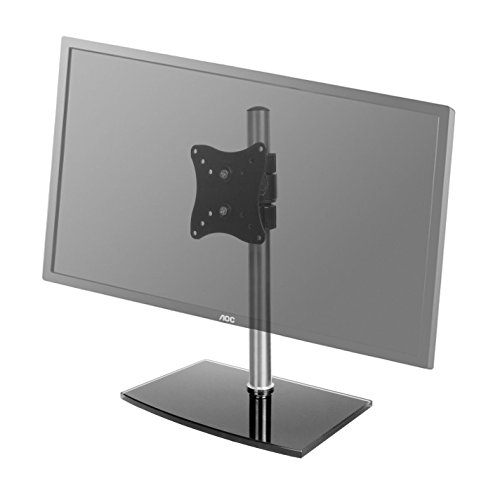 "Edelstahlmarkenshop Monitorhalter Universal Glas Standfuß 12-24"" 30-55cm TV LCD Plasma LED TFT Halter 22 Zoll"
