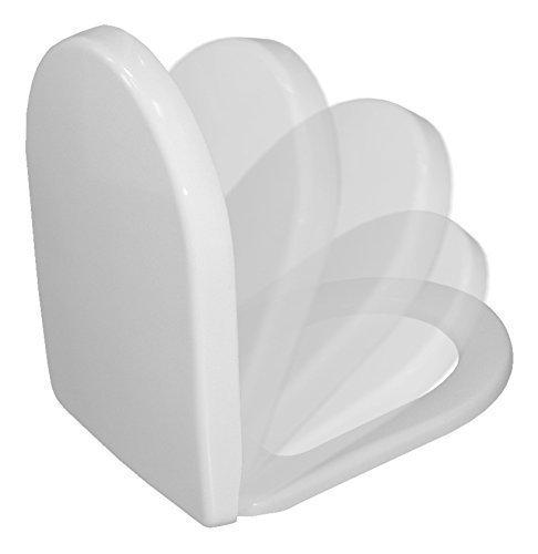 Grünblatt WC Sitz Valos D-Form Duroplast antibac Soft-Close/Take off Scharniere (Weiß)