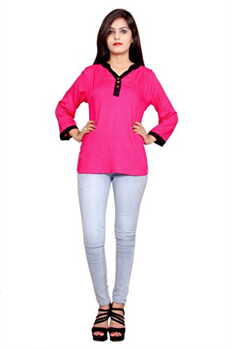 Alobha kurtis for women Cotton Pink Short Kurta