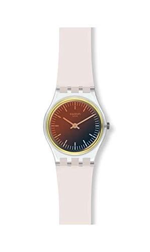 Swatch Damen Analog Quarz Uhr mit Silikon Armband LK391