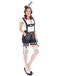 Juego de rol de Halloween Festival de cerveza alemana Correa de ropa Pantalones de cerveza Restaurante Camarero Ropa Etapa Performance Ropa , m