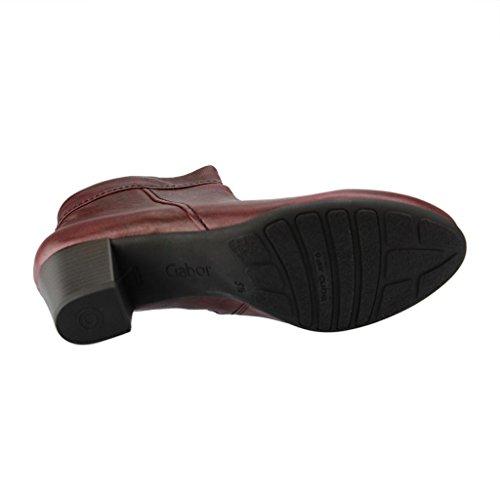 Gabor Comfort 36692-24- Damenschuhe modische Stiefelette, Rot, tropic oil ( leder ), absatzhöhe: 50 mm dark-merlot (Micro)