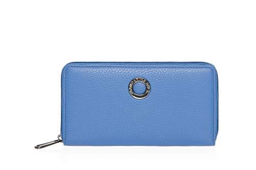 Mandarina Duck Mellow Leather Zip Around Wallet L Colony Blue