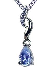 Pendentif - A79TN080336BTWG - Colgante de mujer de oro blanco (9k) con topacios y diamantes