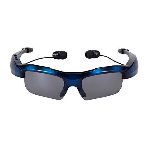 MAZHANG Hohe qualität sport bluetooth kopfhörer kopfhörer sonnenbrille wireless headset handys freisprecheinrichtung stereo kopfhörer für wandern fahren reisen cool bluetooth headset Ostern (Blau)