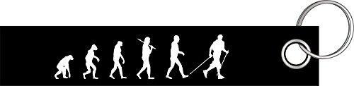 Shirtzshop Nordic Walking Walken Gehen Evolution Schlüsselanhänger Schlüsselband Keyholder Lanyard