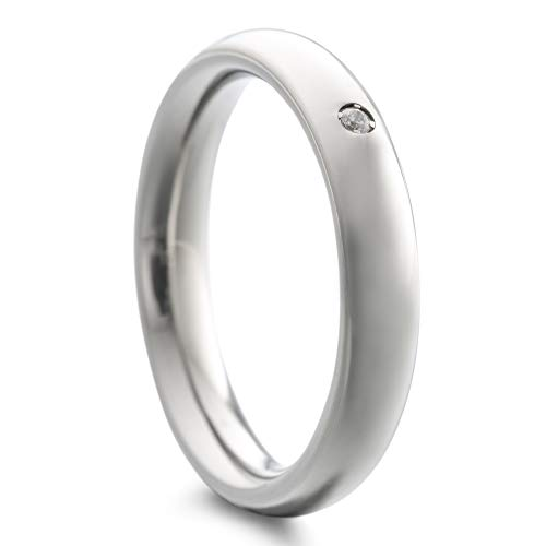 Heideman Ring Damen Paari aus Edelstahl Silber Farben matt oder poliert Damenring für Frauen mit Swarovski Stein Zirkonia Kristall Weiss Crystal Gr.58 hr7023-3-1-58