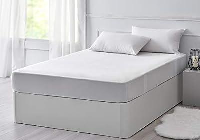 Pikolon Home Lyocell Protector de colchón, híper-Transpirable e Impermeable, Color Blanco