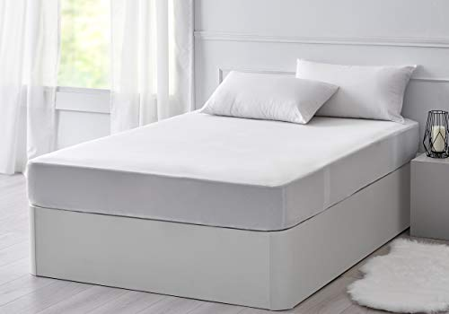 Imagen para Pikolin Home - Protector de colchón Lyocell, híper-transpirable e impermeable, color blanco, 160x190/200cm-Cama 180 (Todas las medidas)