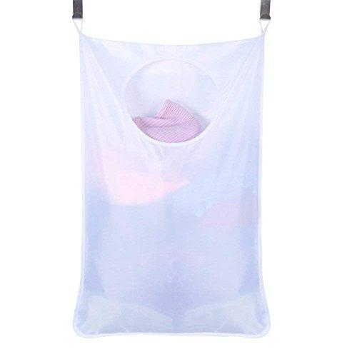 QEES Wäschesack Stoff platzsparend Door-Hanging Wäschesammler jjd02, Weiß, 76*51*5CM