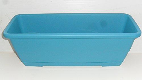 Plateau amovible Grosfillex Jardinière en plastique avec chaise bleu clair 50 cm