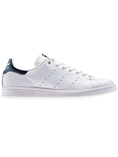 adidas Originals Stan Smith, Unisex-Erwachsene Niedrig, Running White/New Navy, 42 EU (8 UK)