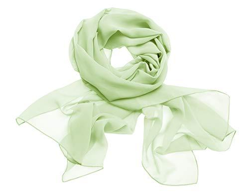 Dresstells Chiffon Schal Stola für Abendkleider in Verschiedenen Farben Light Green 180cmX72cm/ Small
