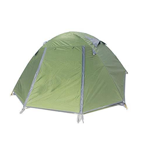 Campingzelt Camping Outdoor Doppeltür Doppeltür Fit 2-3 Personen Leichtes wasserdichtes Zelt Familien-Sport Bergsteigen Wandern Reisen für Outdoor, Wandern, Klettern, Reisen dunkelgrün -