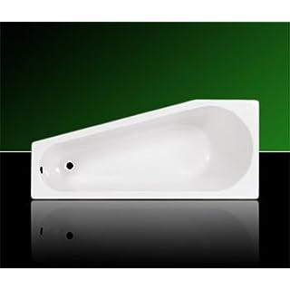 Acryl Badewanne Wanne Raumsparwanne 160 x 70 inklusive Ablauf und Überlauf und Träger