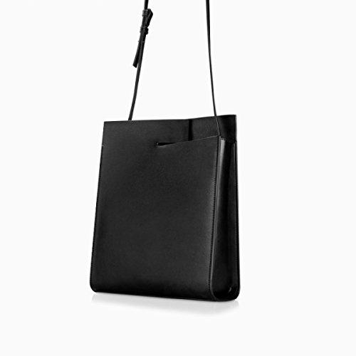 Borse A Tracolla Delle Donne Borsa In Pelle Di Borsa In Pelle Elegante Lady Shopper Fashion Business Tote Grey