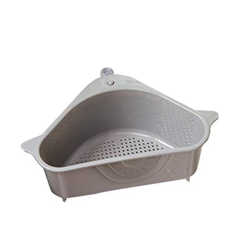 Y56 Auffangschale für Küchenabfälle zum Einhängen, Zubehör für Küchenspülen, Abfluss, Küchenspüle Badewanne Spüle Filter Sieb (Grau, 26X14X9.8CM)