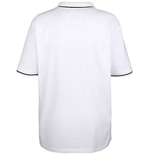 Jan Vanderstorm Herren Poloshirt SIDAR in Übergröße   Große Größen   Plus Size   Big Size   XL XXL XXXL 4XL 5XL 6XL 7XL 8XL 9XL 10XL Weiß