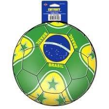 Brazil Football Cutout Decoration