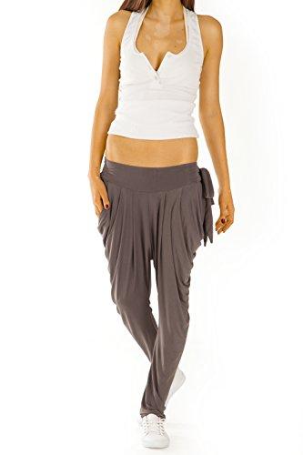 Bestyledberlin Pantalon femme, pantalon sportif / yoga j73a Marron