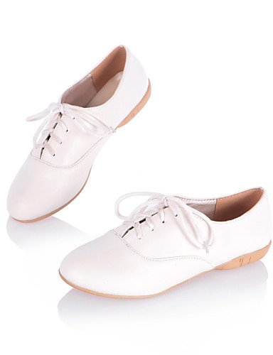 ZQ hug Scarpe Donna - Stringate - Casual - Punta arrotondata - Piatto - Finta pelle - Nero / Rosa / Bianco , pink-us8 / eu39 / uk6 / cn39 , pink-us8 / eu39 / uk6 / cn39 white-us5 / eu35 / uk3 / cn34