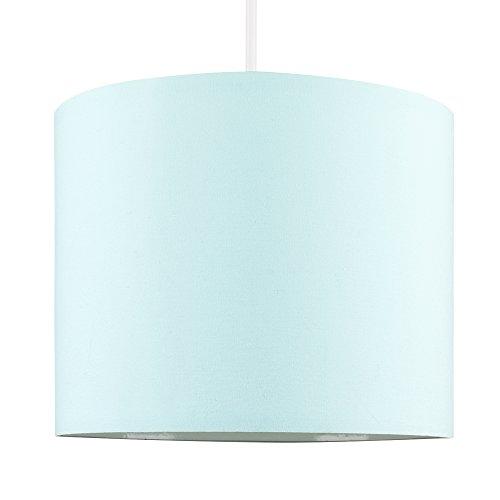 MiniSun – Kleiner, moderner und hellblauer Lampenschirm in Zylinderform – für Hänge- und...