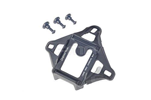 3Farben (schwarz, DE, FG), Metall Aluminium Wilcox Style L43Loch NVG Vas Night Vision Tuch Mount Base für Ach/mich/PASGT Helm für Tactical Paintball Softair schwarz schwarz