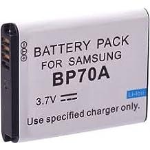 Batería de litio recargable compatible para cámara / videocámara digital para: Samsung BP 70A/ BP70A/ SLB 70A / SLB70A