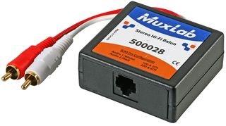 Muxlab CAT5 Audio BALUN, Stereo, 2X Phono 500028 -