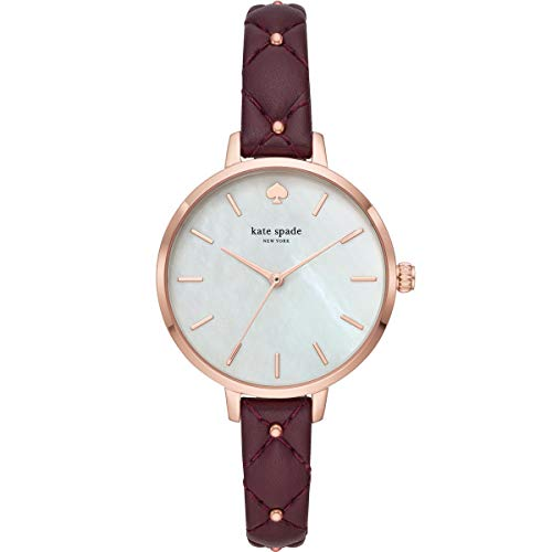 Kate Spade New York Metro Brown Leather & White Dial Women's Watch KSW1489