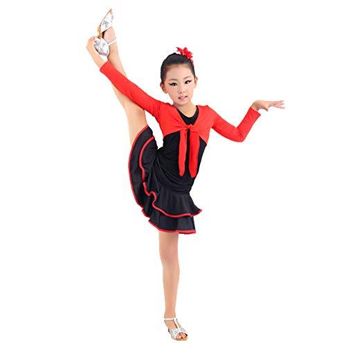 KINDOYO Robe de Performance Enfants - Filles Latin Competition Dancewear Vêtements d