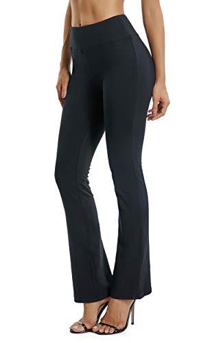 FITTOO Pantaloni Yoga Donna Yoga Pants Larghi Eleganti Sportivo, Nero, XL