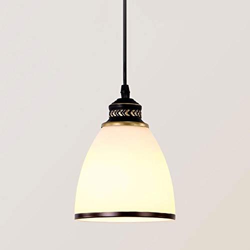 E27 Glas Pendelleuchte,Bell-Form Lampenschirm,Vintage Pendellampe Esszimmer Esstisch Küchen Bar Cafe Suspension Lamp Höhenverstellbar Decken Leuchte,Schwarz Scan Gold -