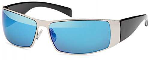 BEZLIT Herren Sonnenbrille Pilotenbrille Sprotlich Blau