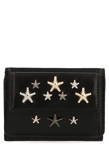 Jimmy Choo Luxury Fashion Donna NEMOLTRBLACKMETALLICMIX Nero Portafoglio | Autunno Inverno 19