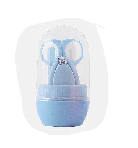 LPWORD Baby Grooming Kit, Sicherheits Baby Nagelknipser Set Enthält Nagelknipser, Sicherheitsschere, Nasenpinzette und Nagelfeile Für Neugeborene, Babys, Kleinkinder, Kleinkinder und Kinder,Blue