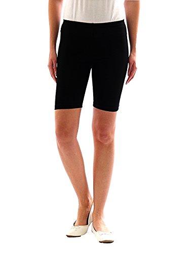 Femmes Sport Shorts Shorty Shorts Sport Radler court Leggings Coton - Noir, 54